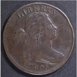1805 LARGE CENT  XF/AU