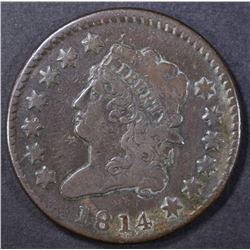 1814 LARGE CENT VF/XF  CROSSLET 4