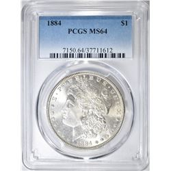 1884 MORGAN DOLLAR  PCGS MS-64
