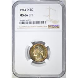 1944-D JEFFERSON NICKEL  NGC MS-66 5FS