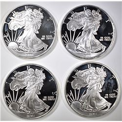 "4 1OZ .999 SILVER SMI ROUNDS  ""WALKING LIBERTY"""