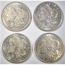4 1921 MORGAN DOLLARS  2-D, 1-P & 1-S