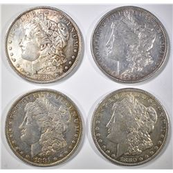 4 MORGAN DOLLARS: