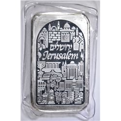 FIVE OUNCE .999 SILVER BAR, HOLY LAND MINT