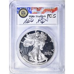 1993-P SILVER EAGLE PCGS PR-69 DCAM ECC STICKERED