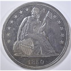 1850 SEATED DOLLAR, AU/BU LOW  MINTAGE OF 7500