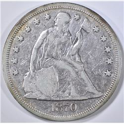 1870 SEATED LIBERTY DOLLAR  XF/AU