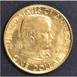 1922 $1 GOLD GRANT STAR COMMEM GEM UNC