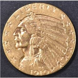 1910 $5 GOLD INDIAN  CH BU