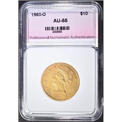 1860-O $10 GOLD LIBERTY  PNA AU BU