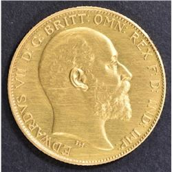 1902 BRITISH GOLD HALF SOVEREIGN  CH/GEM PROOF
