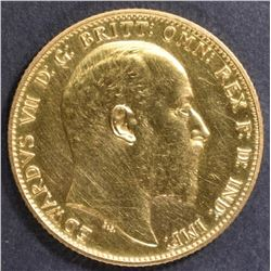 1902 BRITISH GOLD SOVEREIGN  CH/GEM PROOF