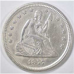 1877 SEATED LIBERTY QUARTER  AU/BU