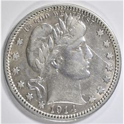 1914 BARBER QUARTER  XF/AU
