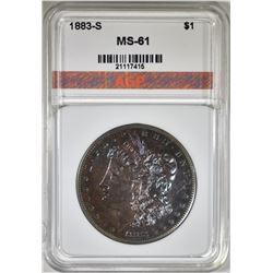 1883-S MORGAN DOLLAR, AGP BU