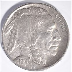 1914-D BUFFALO NICKEL, VF