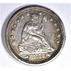 1873-S ARROWS SEATED LIBERTY QUARTER XF