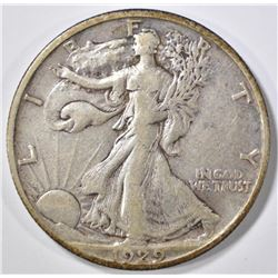1929-S WALKING LIBERTY XF