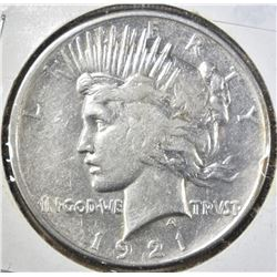 1921 PEACE DOLLAR, XF