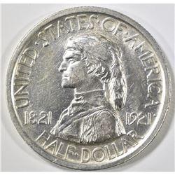 1921 MISSOURI COMMEM HALF DOLLAR  AU/BU