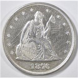 1876 20 CENT PIECE  AU/BU