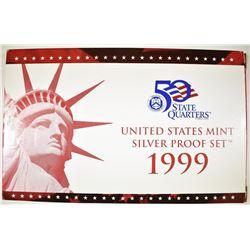 1999 US MINT SILVER PROOF SET