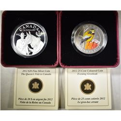 2 SILVER PROOF CANADIAN COINS: