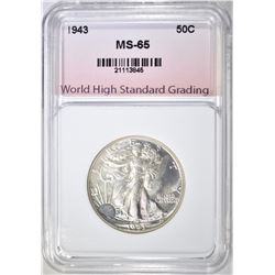 1943 WALKING LIBERTY WHSG GEM BU