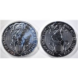2-2019 2oz  SILVER QUEENS BEAST YALE OF BEAUFORD