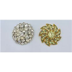 LOT OF TWO VINTAGE RHINESTONE  PINS/BROOCHES