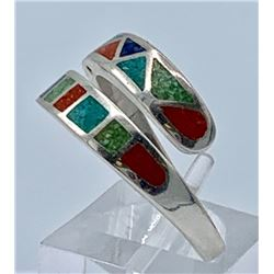 STERLING SILVER CAROLYN POLLACK INLAY RING