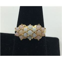 14K Y GOLD OPAL RING, SIZE 9 1/2