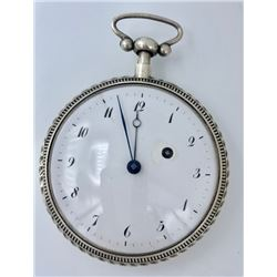 FRENCH 1/4 REPEATER OPEN FACE WATCH SILVER