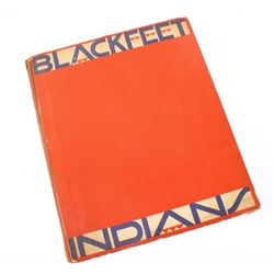 1935 Blackfeet Indians Book By Winold Reiss