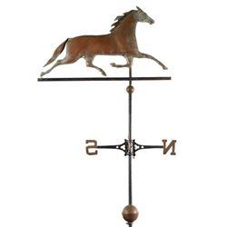 Antique Copper Horse Figure Weather Vane