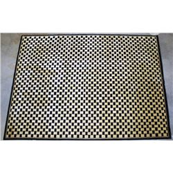 Massive 100% Wool Checkered Rug