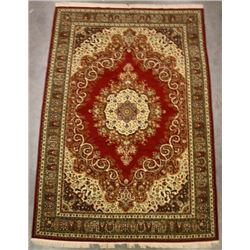 Mid 1900's Hand Woven Sarouk Persian Rug