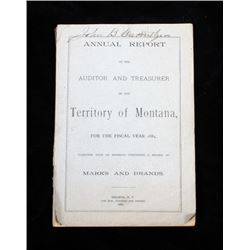 Annual Report of the Territory of Montana 1884