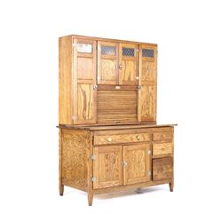 Early 1900's Oak Full Size Hoosier Cabinet