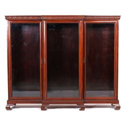 Queen Anne Long Bookcase - Senator's Office 1800's