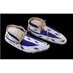 Lakota Sioux Fully Beaded Moccasins 19th Century
