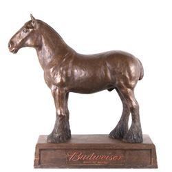 Original 1930's Budweiser Clydesdale Horse Adv.