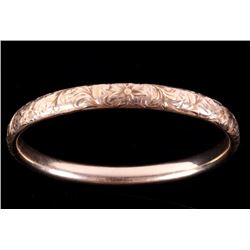 Art Deco Fully Engraved 14K Gold Bracelet