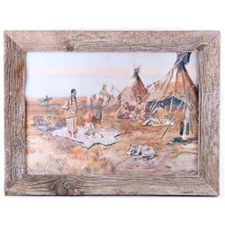"""Indian Life"" Charles M. Russell Framed Print"