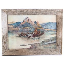 Return of the Renegades, C.M. Russell Framed Print