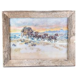 """Prairie Express"", Charles Russell Framed Print"