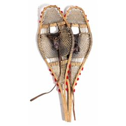 Rare Ojibwa Rawhide Snowshoes Circa Early 1900's