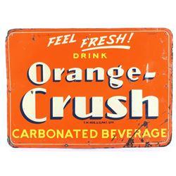 1939 Orange Crush Carbonated Beverage Sign