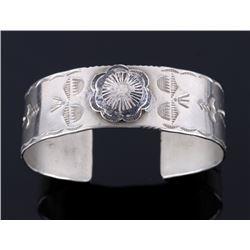 Navajo Fred Harvey Sterling Silver Bracelet