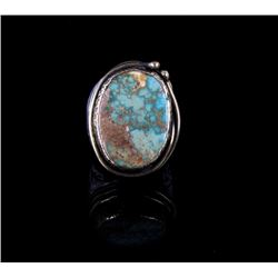 American Indian Sterling Silver & Turquoise Ring